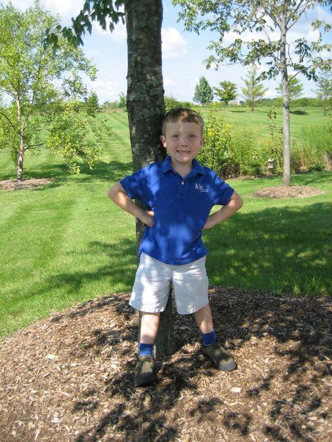 Liam starting school 2006