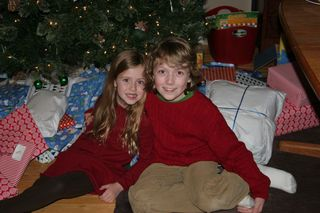 Liam and stasia under the tree 2010