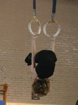 Liam gymnastics inverted hang rings