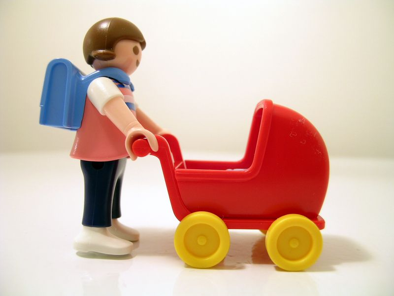 Playmobil mother with stroller