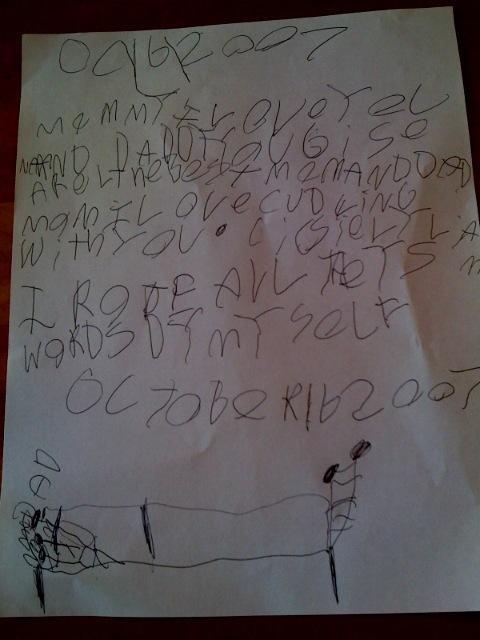 Liam's love letter picture
